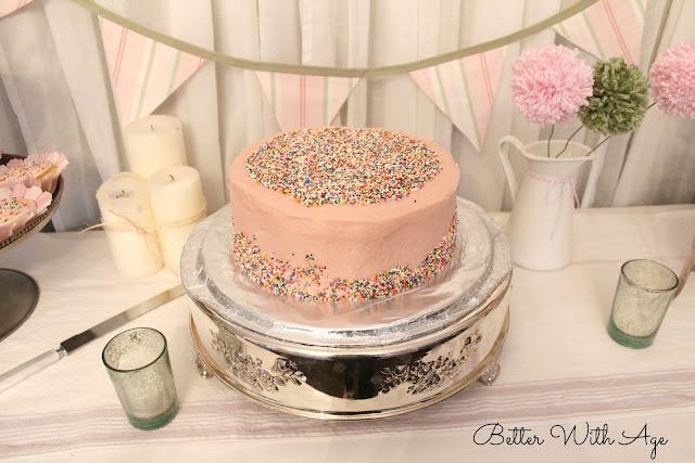 Sprinkles cake www.somuchbetterwithage.com