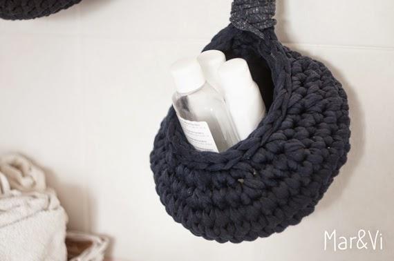 Cómo hacer una cesta de trapillo para colgar