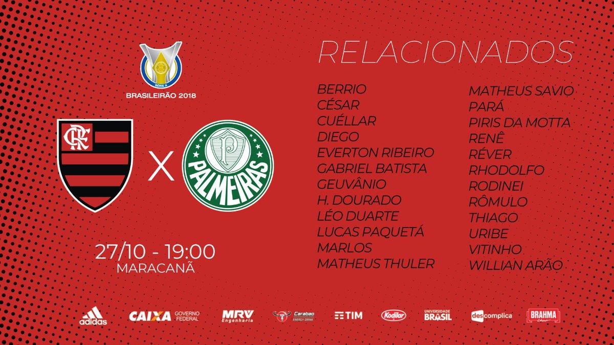 Flamengo x Palmeiras  sem Diego Alves 68e6701921067