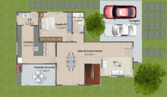 planos de casas modernas 200m2