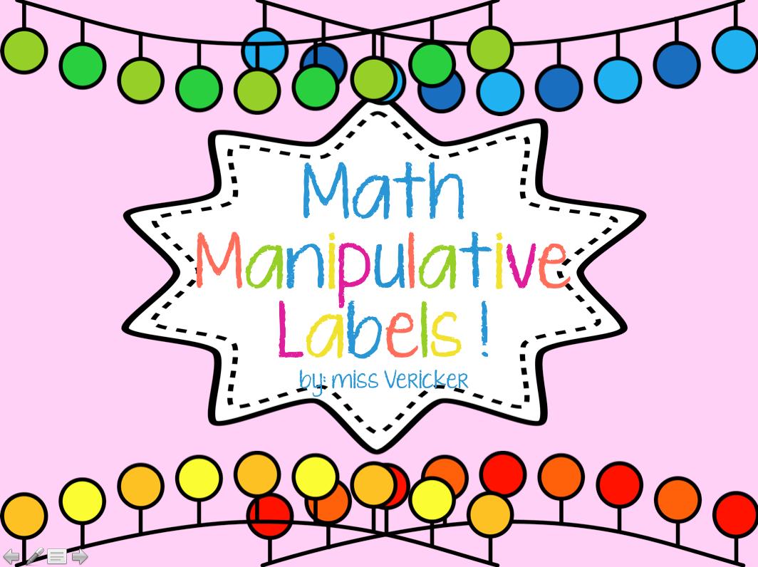 Math Mondays Manipulative Labels And A Follower Freebie