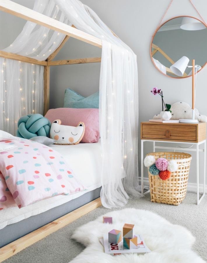 Decoraci n f cil un dulce dormitorio para una ni a - Dormitorio de nina ...