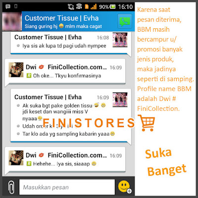 Testimoni Golden Tissue