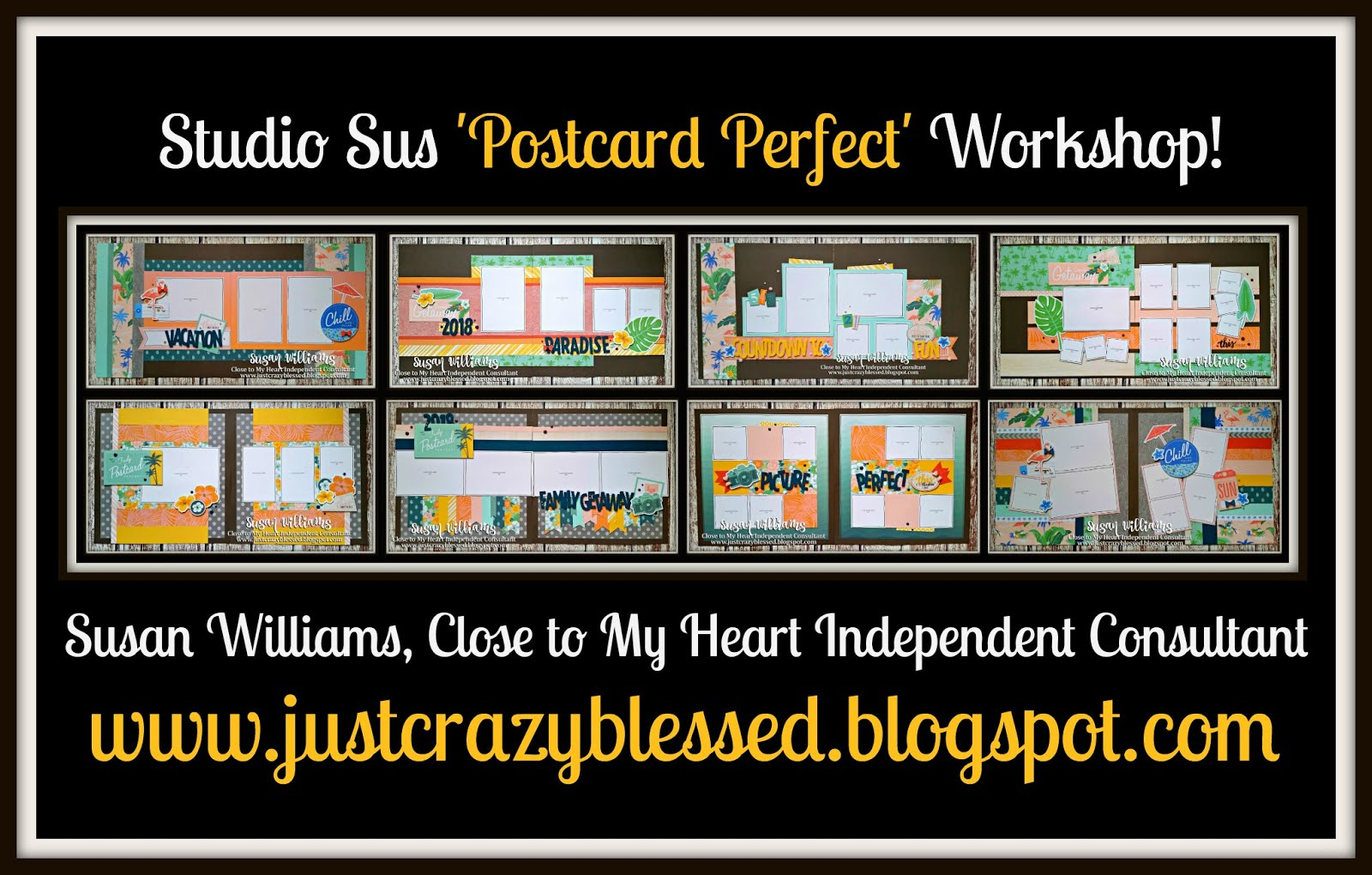 'Postcard Perfect' Scrapbooking Workshop!