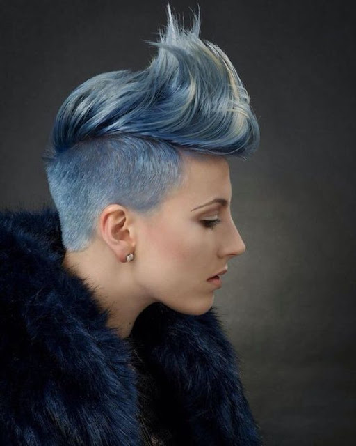 Stunning Sidecuts In Silver Metallic Colors The Haircut Web