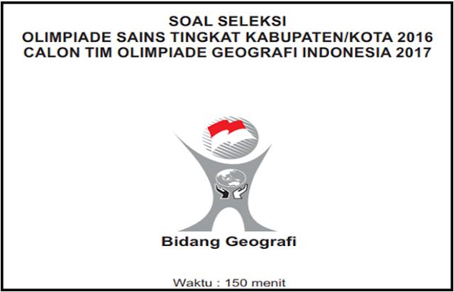 Contoh Soal OSN Geografi SMA/MA 2019  Lengkap Dengan Kunci Jawaban