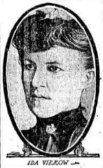 Early 20th-century photo of a young woman with dark hair
