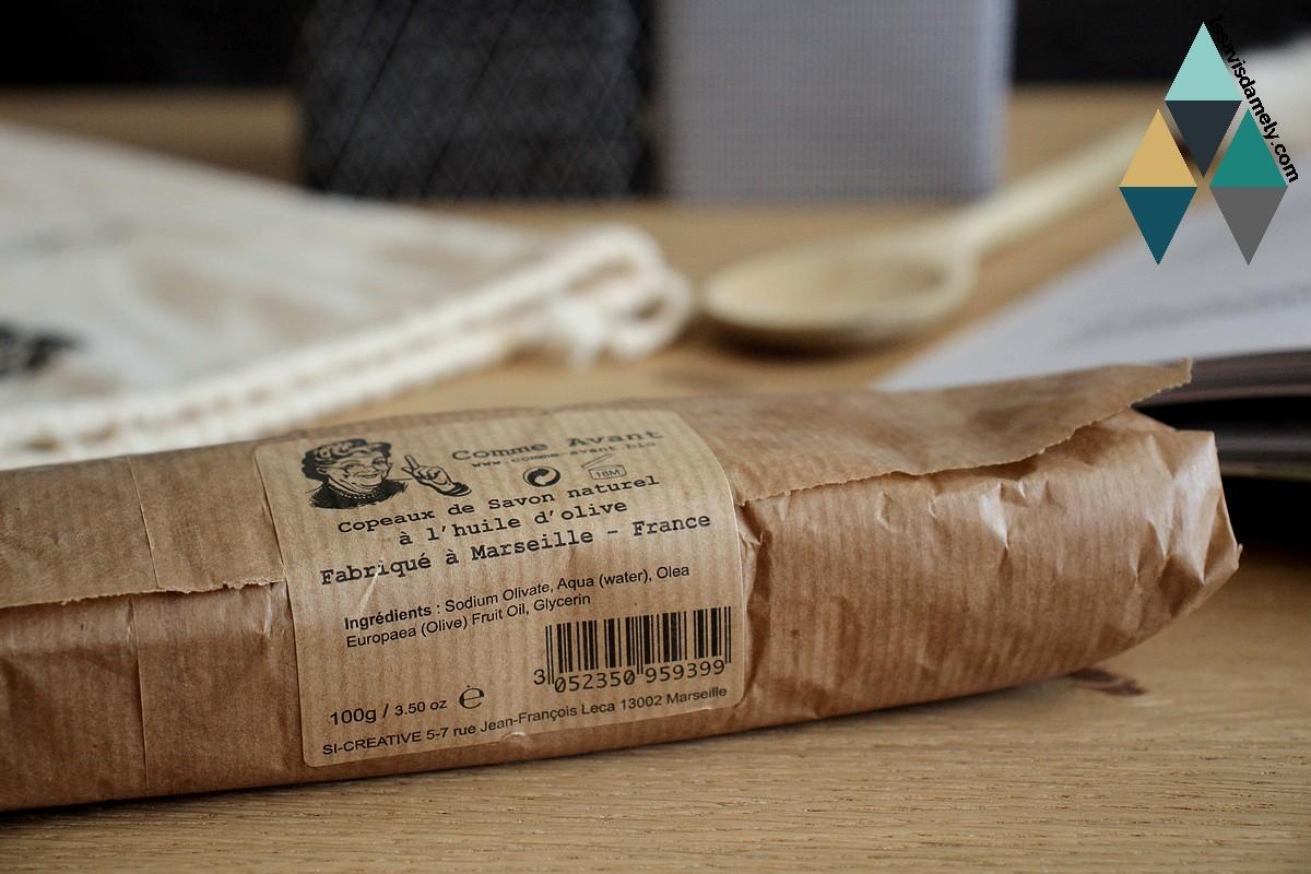 avis et test copeaux de savon naturel à l'huile d'olive