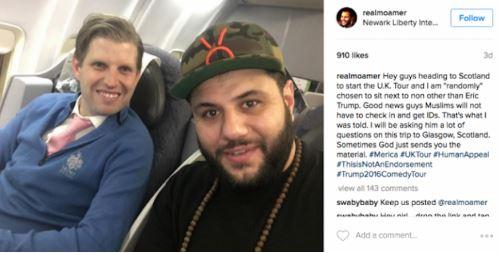Lelaki Islam Ini 'Ditakdirkan' Duduk Di Sebelah Anak Donald Trump Dan Ini Apa Yang Diborakkan Oleh Mereka