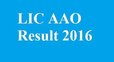 LIC AAO Result 2016