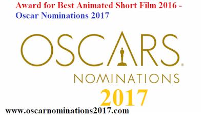 Award for Best Animated Short Film 2016