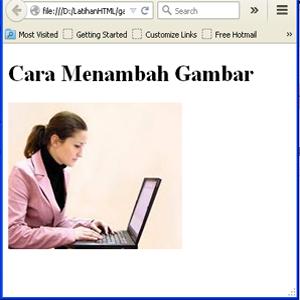 Cara Memasukan Gambar Pada Html Belajar Komputer Jaringan Dan Internet