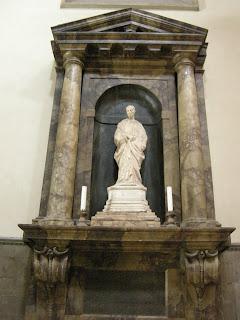 A statue said to be of Bracciolini in the Duomo in Florence, attributed to Donatello