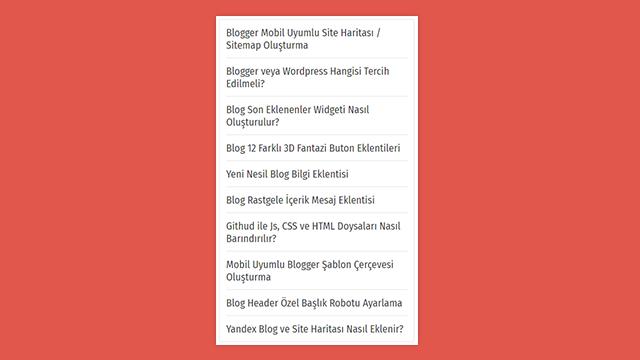 Blogger Blogspot Rastgele Yayın Widget Eklentisi