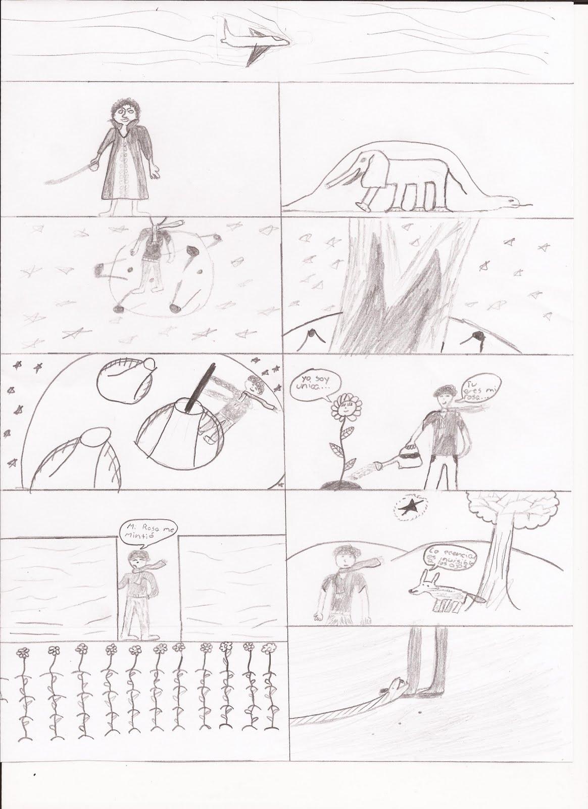 El Principito En Comic Bloque F
