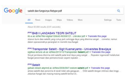 trik mencari data tertentu di google