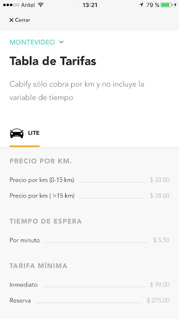 Cabify-Montevideo-Tarifas