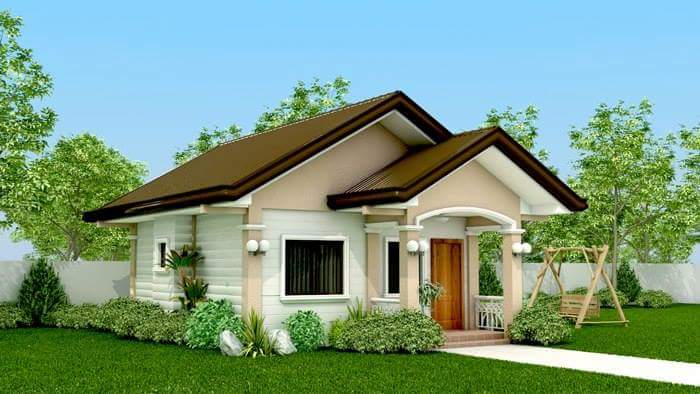Space saving house plans house worth p400k material cost for Model house bungalow type