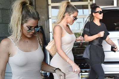 Kim and Khloe Kardashian step out in LA looking slimmer than ever following Taylor Swift drama
