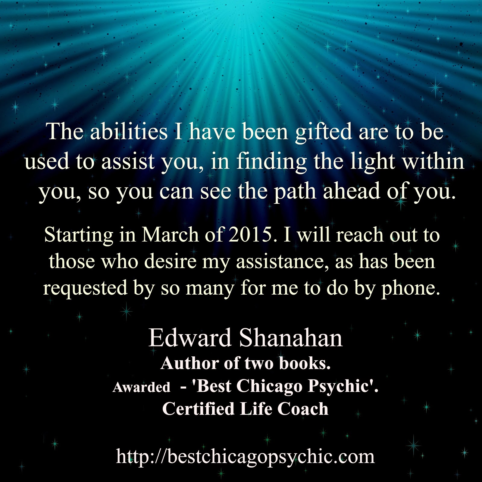 Best Psychic in Chicago award winner offers Psychic Phone Readings.