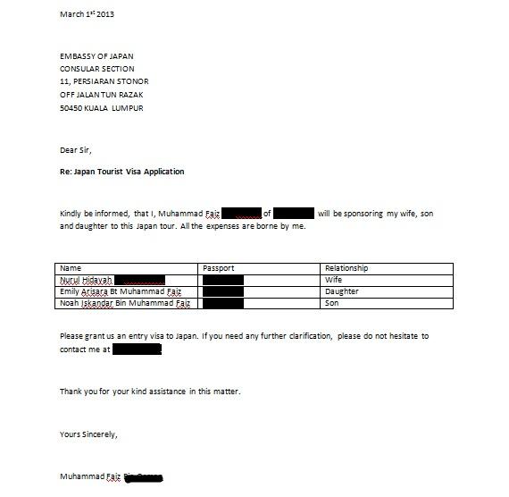 Sample Visa Application Letter To Japan Essays HUB