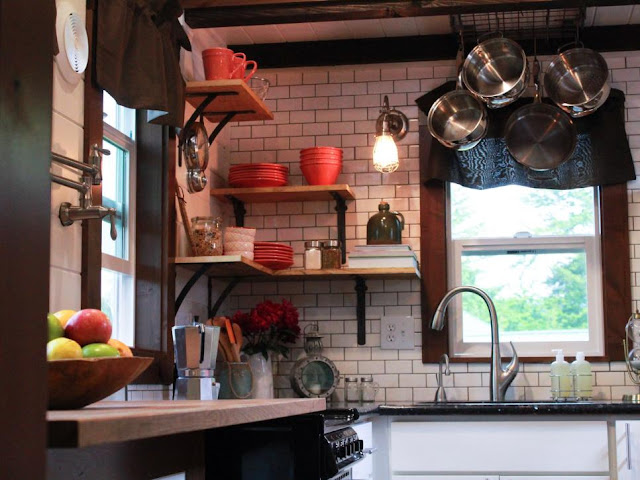 Craftsman tiny house kitchen by Tiny Heirloom