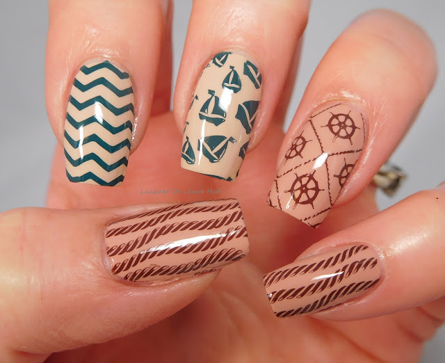 Messy Mansion Spruce and Pudding over Lina Nail Art Supplies Born To Sail 01
