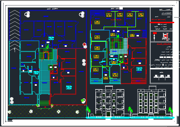 heating project autocad drawings