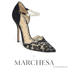 Princess Madeleine wore MARCHESA Emma Pump
