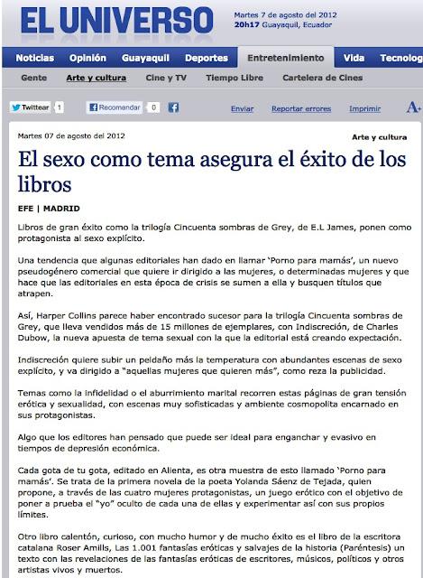 Ecuador | El sexo como tema asegura el éxito de los libros