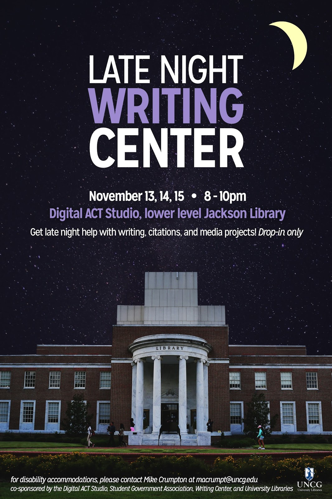 uncg writing center Having trouble logging in enter your email address below and then click change password the system will email you with instructions for changing your password.