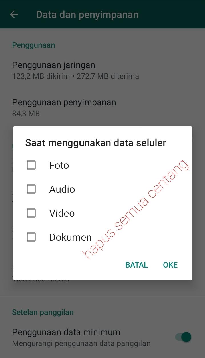 menonaktifkan whatsapp download otomatis