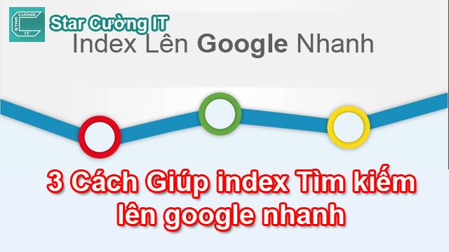 Cách giúp nội dung của bạn nhanh index lên Google - SEO Blogspot