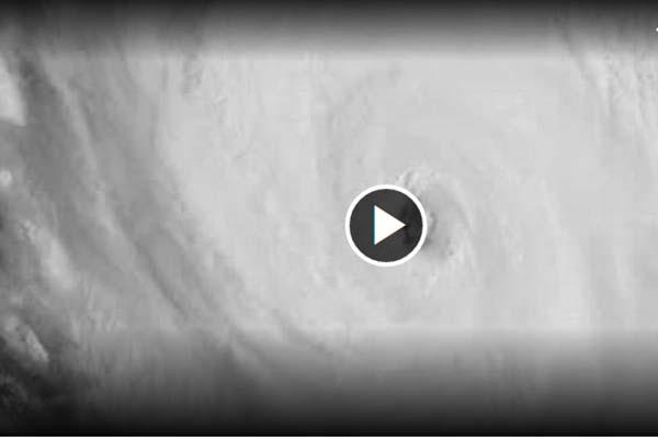 Foto del vídeo del huracán Irma ya en su máxima categoría: 5