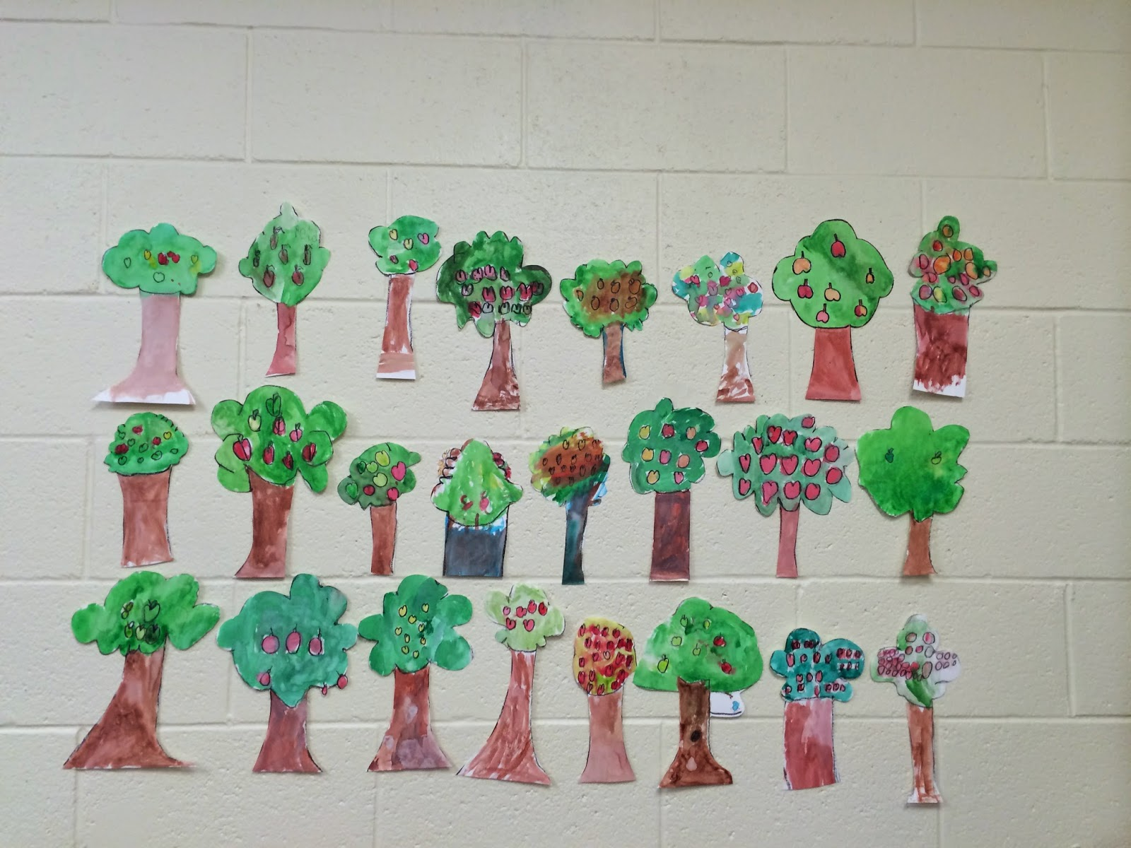Kroger S Kindergarten Apple Tree Directed Drawing