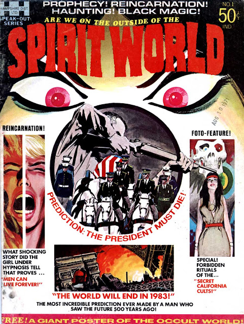 Spirit World v1 #1 comic book magazine cover art by Neal Adams