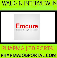 Emcure Pharmaceuticals Limited Walk-In Interview - Apply Now