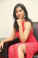 Sakshi Kakkar in Red Legsplit Sleeveless Gown at Dare movie Press meet ~  Exclusive 081.JPG