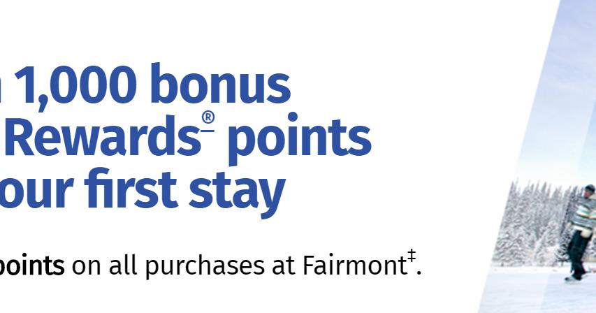 Canadian Rewards: Fairmont: Earn 1,000 bonus RBC Rewards ...