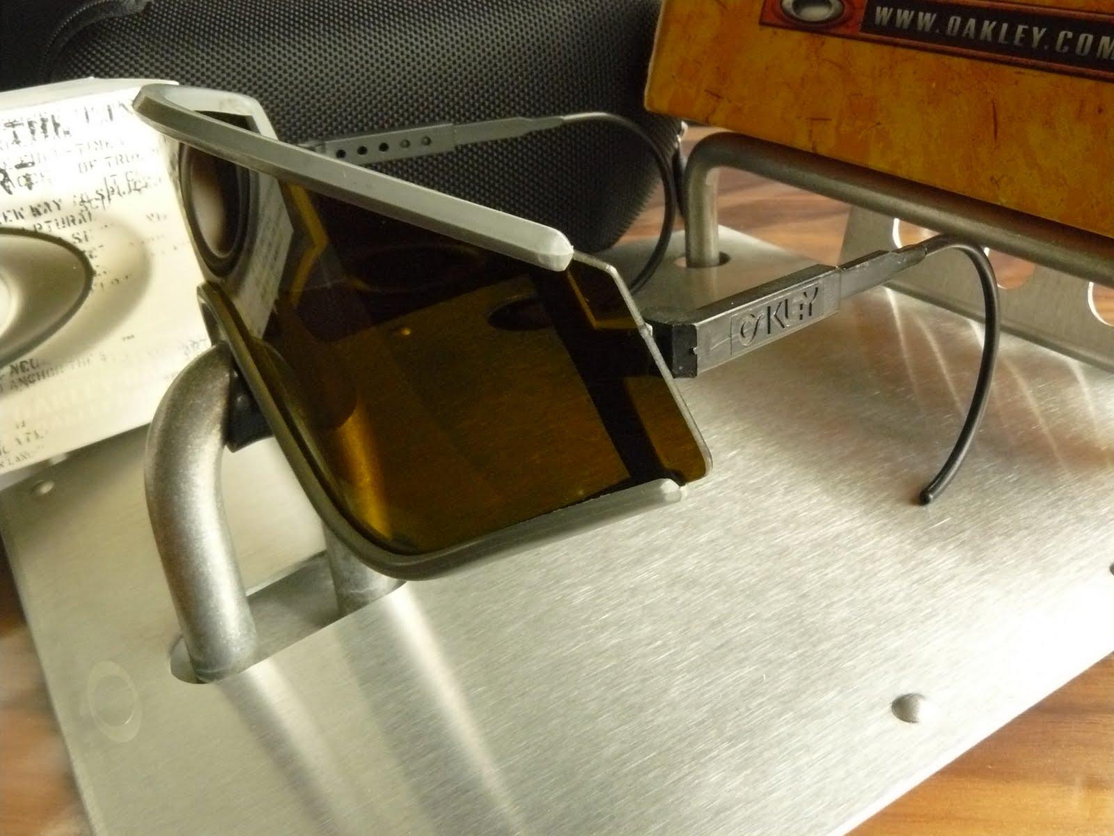 84f515472352 My Vintage Oakleys. Eyeshade(1984), Grey frame with Bronze lens, SKU 03-005
