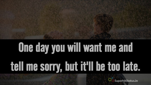 Break Up Sad Whatsapp Status in English, Short Break Up Quotes SMS