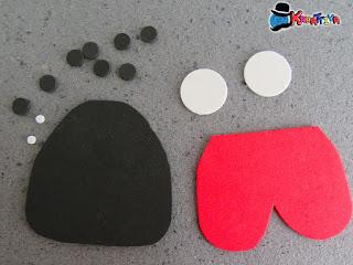 elementi per punch art e creazione coccinella