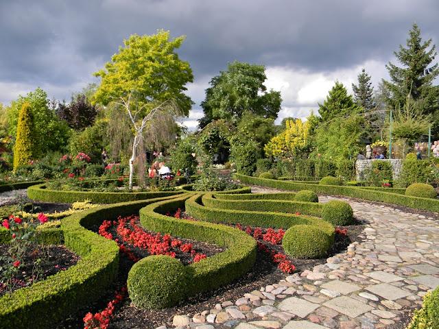 ogród w Starym Dworze jest zadbany i czysty.
