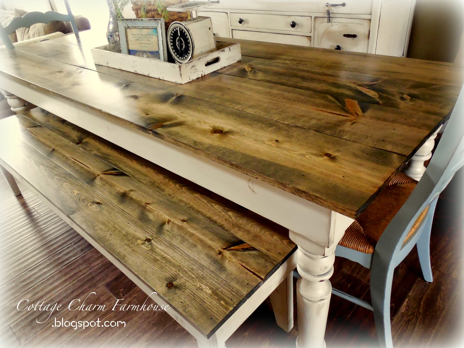 Cottage Charm Creations: Old English Farmhouse Tables