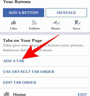 Facebook page me tab add or customize kese kare 3