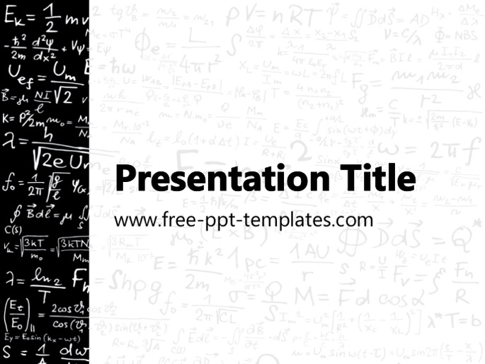 physics ppt template, Modern powerpoint