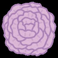 お花紙のイラスト(紫)