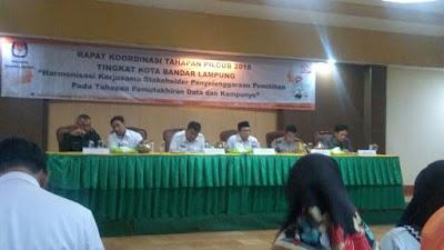 KPU Bandar Lampung Gelar Rakor Tahapan Pilgub Lampung 2018