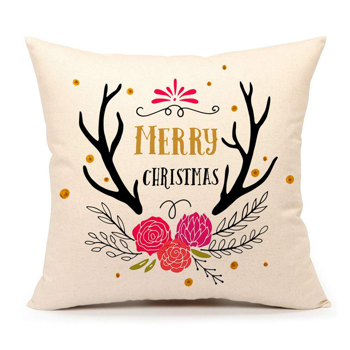 Christmas Antler Pillow