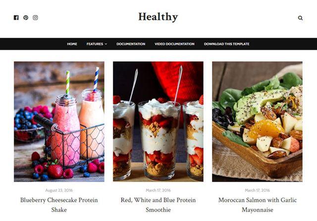 Healthy Blogger Theme